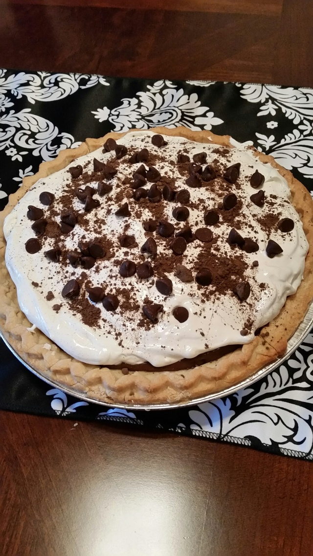Chocolate Cream pie with Cheese cake filling